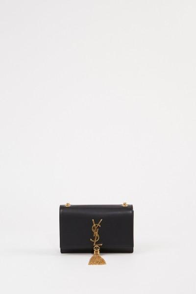 Saint Laurent Umhängetasche 'Kate' mit Quastendetail Schwarz/Gold