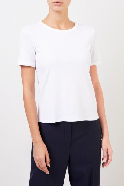 The Row Ribbed Cotton T-Shirt 'Leah' White