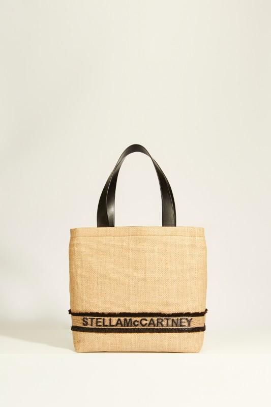 Shopper 'Tote Monogramm Small' mit Logo Beige/Schwarz
