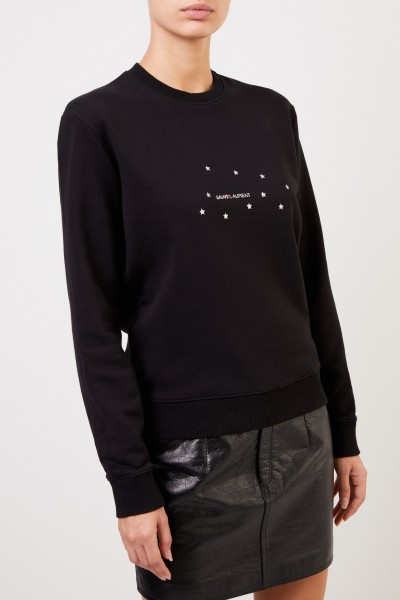 Saint Laurent Sweatshirt with logo print Black