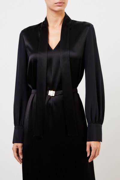 Tory Burch Dress with bow detail and belt Black