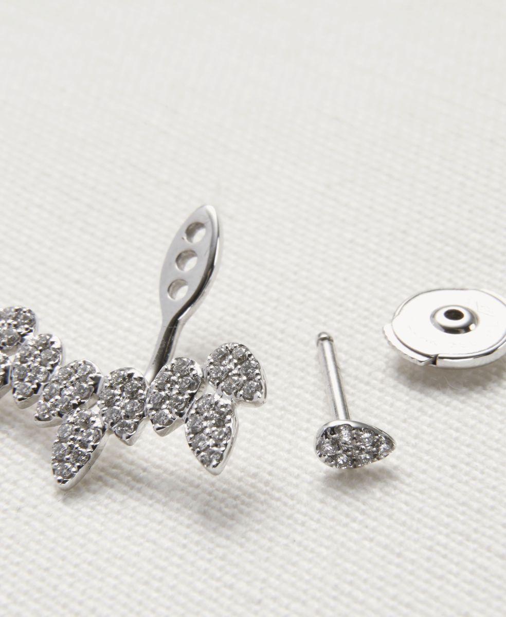 Diamant-Ohrring 'Pavée' 18K Weißgold