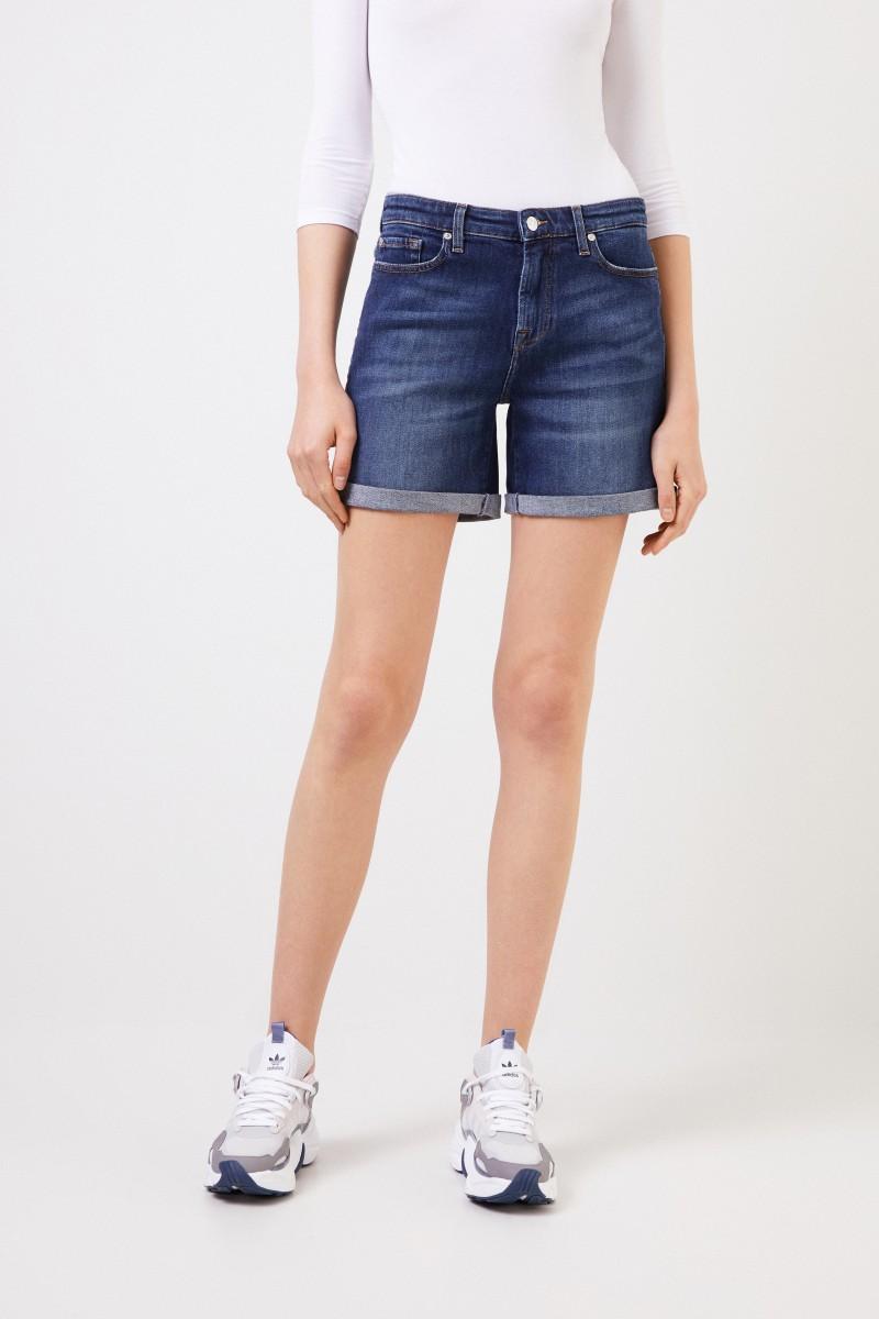 7 for all mankind Klassische Jeans-Shorts Blau