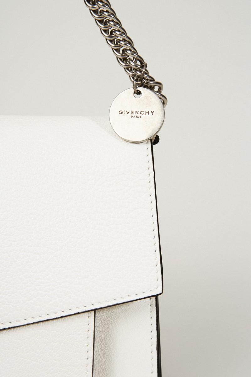 Schultertasche 'GV3 Small' mit Silberelemente Weiß