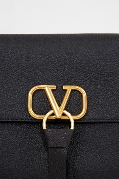 Valentino Leather bag 'Vring' with chain strap Black