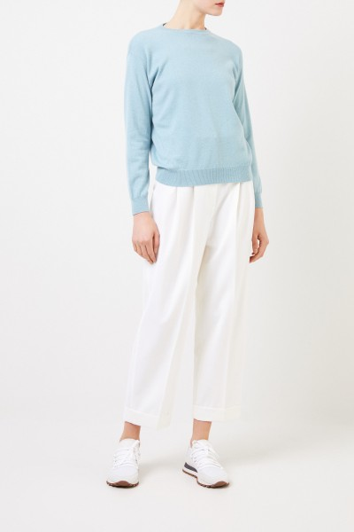 Wool pants White