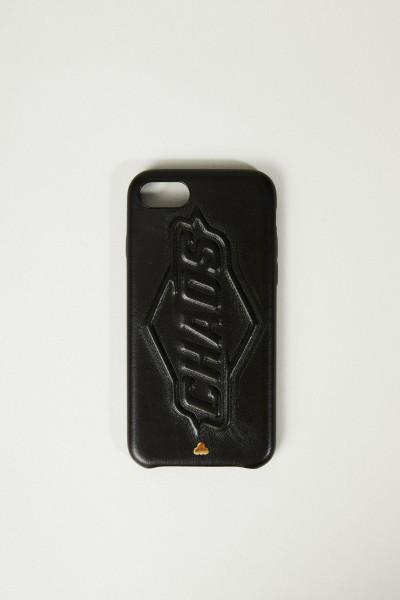 Iphone 7/8 Case mit Logo-Schriftzug Schwarz