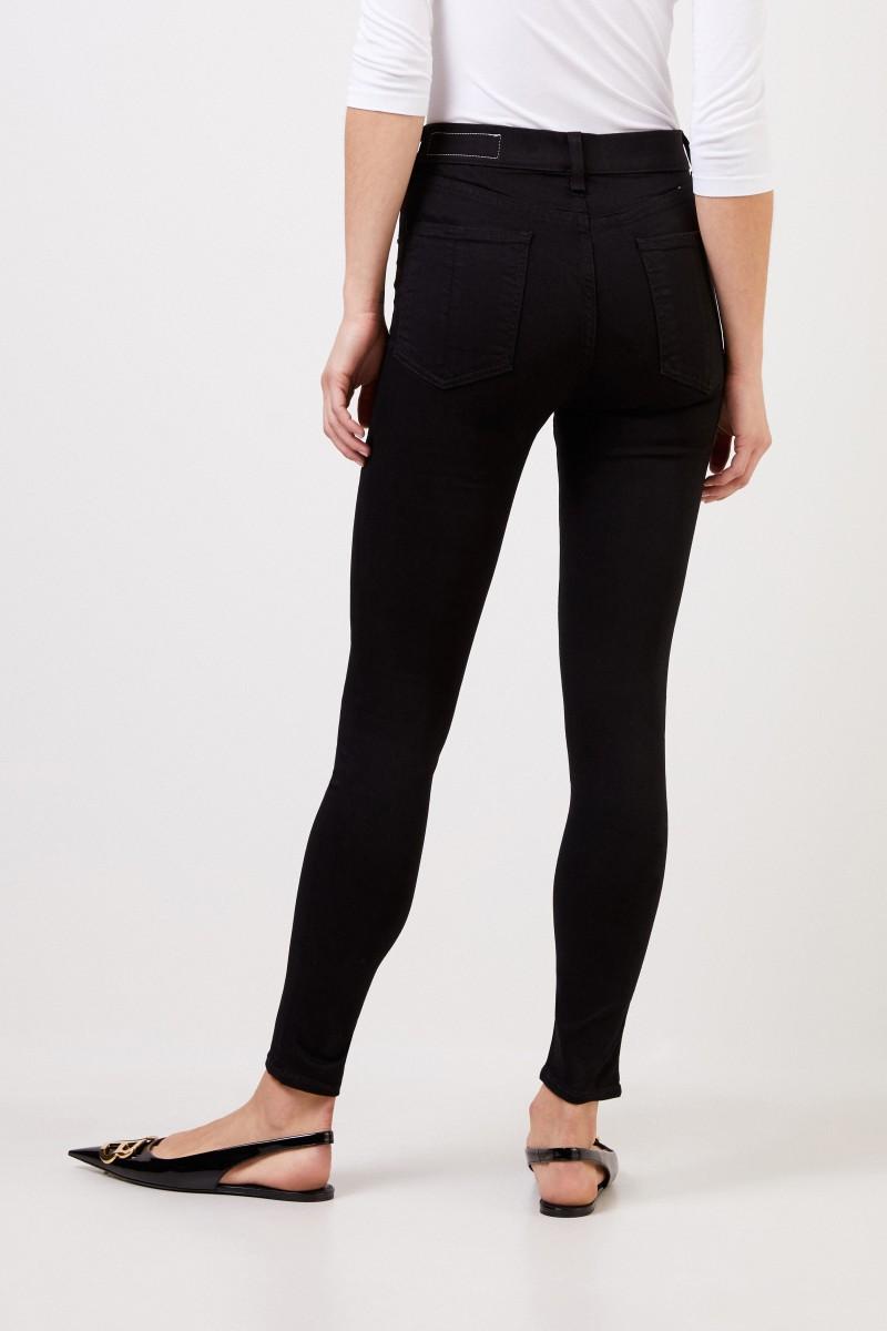 Rag&Bone Highrise-Skinny Jeans Schwarz