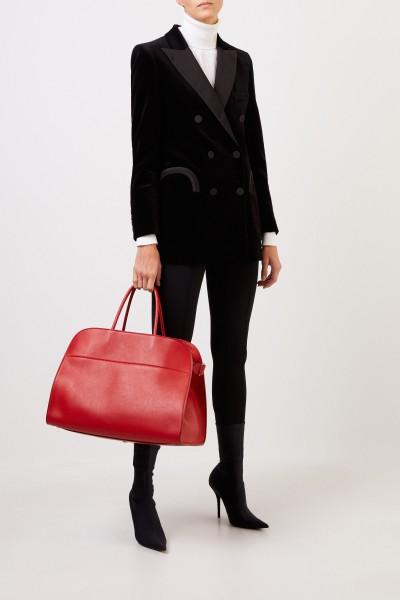 The Row Leder-Handtasche 'Margaux 17' Rot