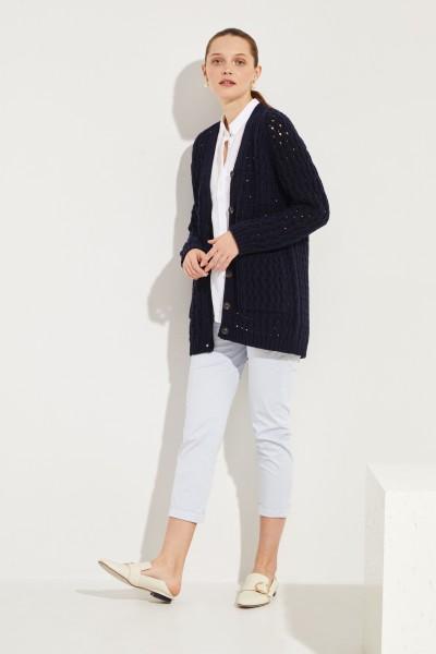 Iris von Arnim Wool cashmere cardigan 'Portia' Blue