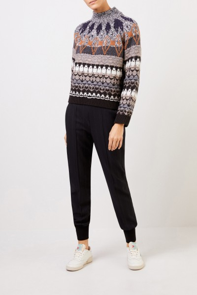 Patterned wool pullover Multi