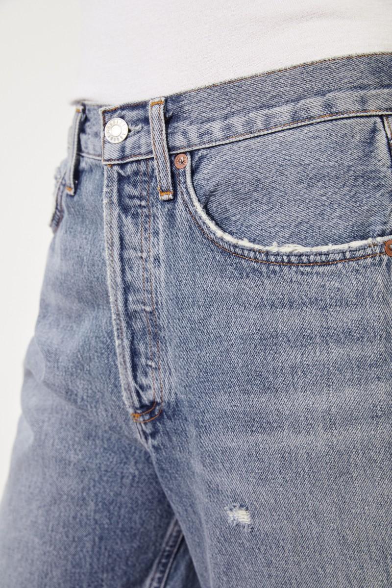 Jeans-Shorts ' 90's Short' im Used-Look Blau