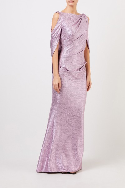 Long evening dress with shimmer effect lilac