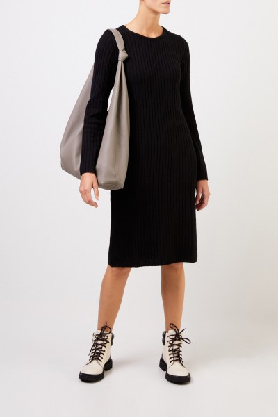 Iris von Arnim Cashmere rib knit dress 'Christella' Black