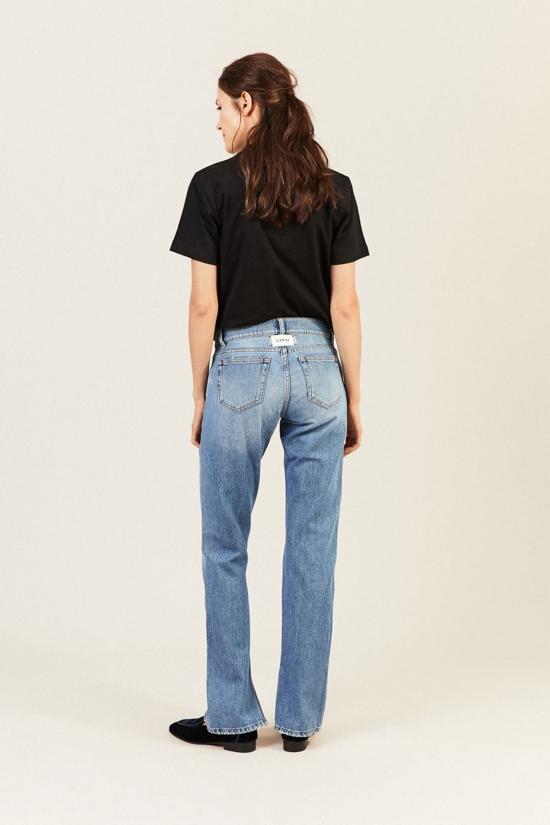Jeans mit Schlitzen Hellblau