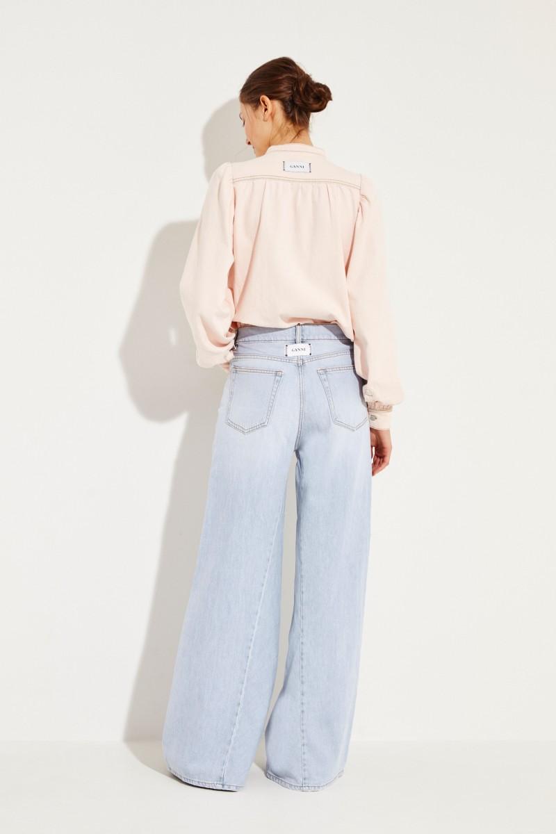 Jeans mit Schlag Hellblau