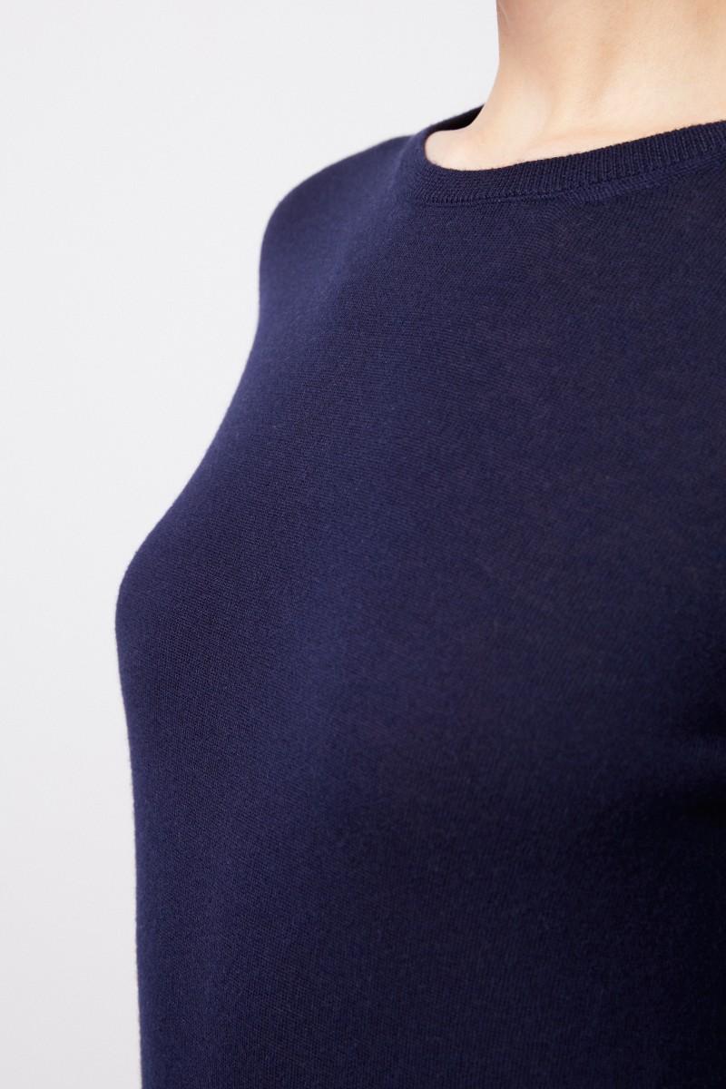 Iris von Arnim Feinstrick Cashmere-Pullover 'Ivastone' Marineblau