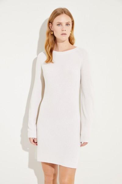 Seiden-Cashmere-Kleid Crème