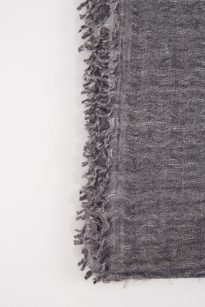 Allude Cashmere-Schal Grau Melange