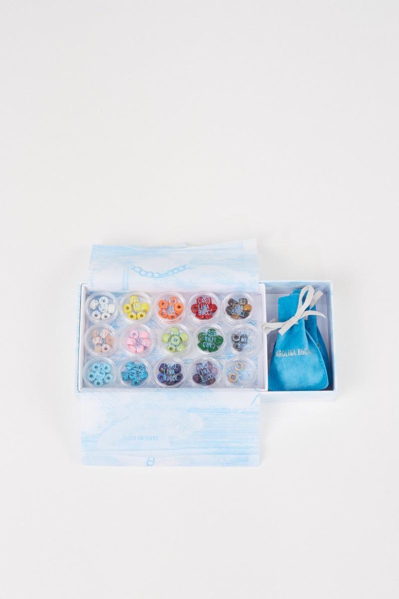 Carolina Bucci Perlenset 'FORTE Beads' mit Armband und Kette Blau/Schwarz