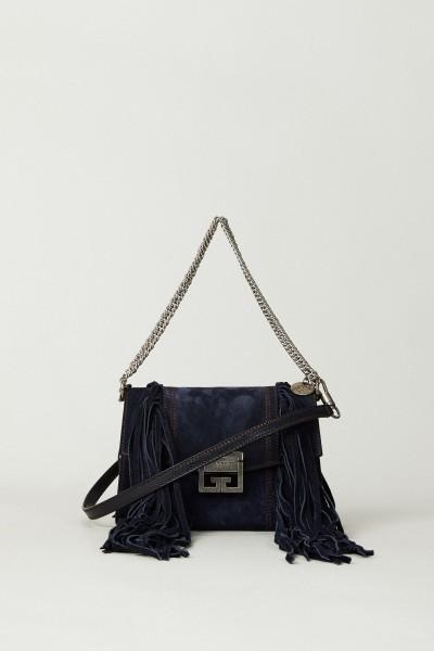 Schultertasche 'GV3 Small' mit  Fransen-Details Blau