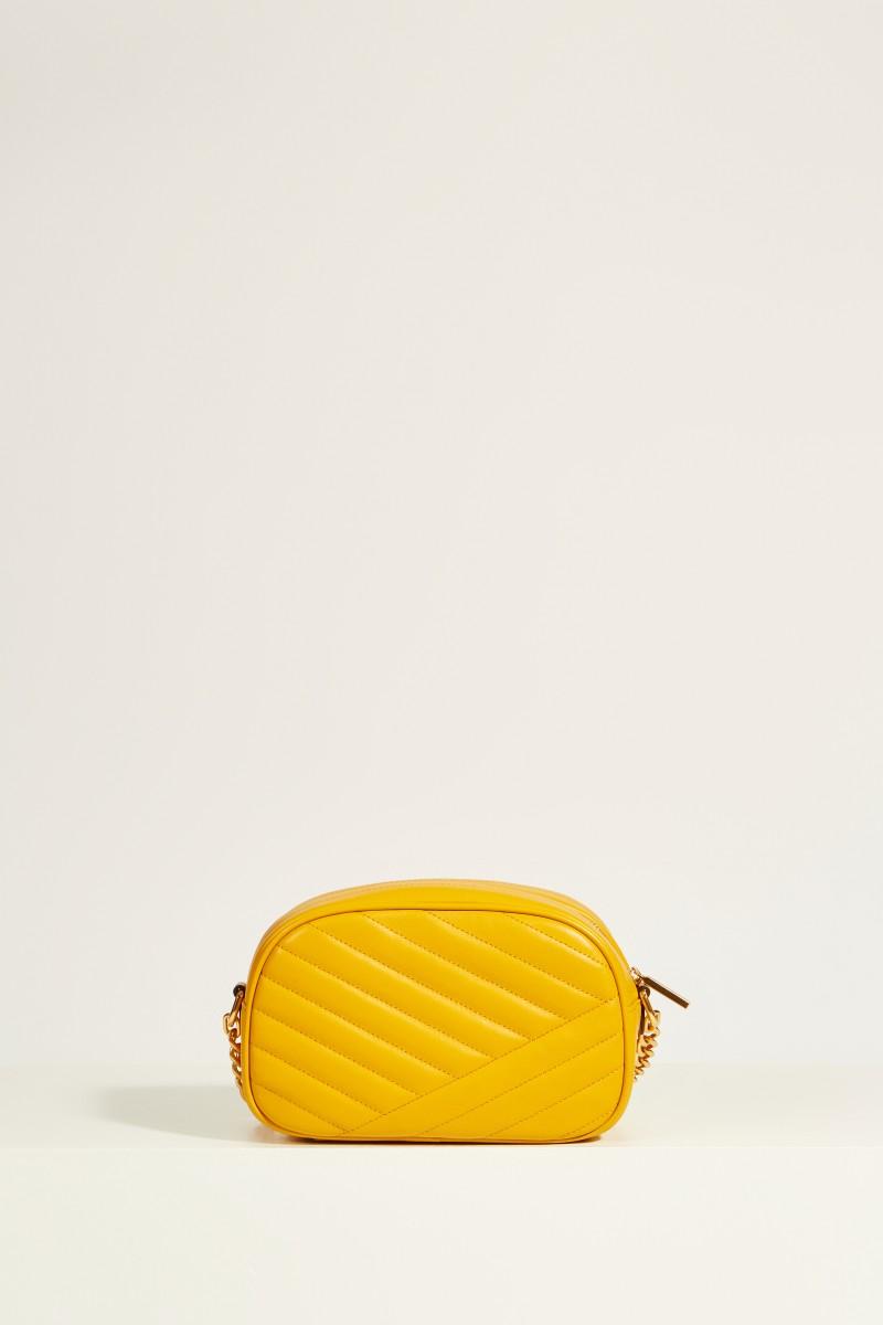 Leder-Umhängetasche 'Kira Camera' Gelb