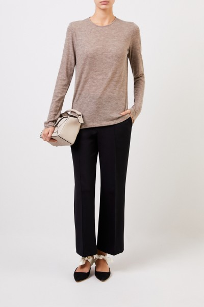 The Row Classic Cashmere Longsleeve 'Tabor' Beige Meliert