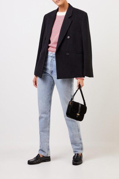 Saint Laurent Wool cashmere blazer with stripes Black/Grey