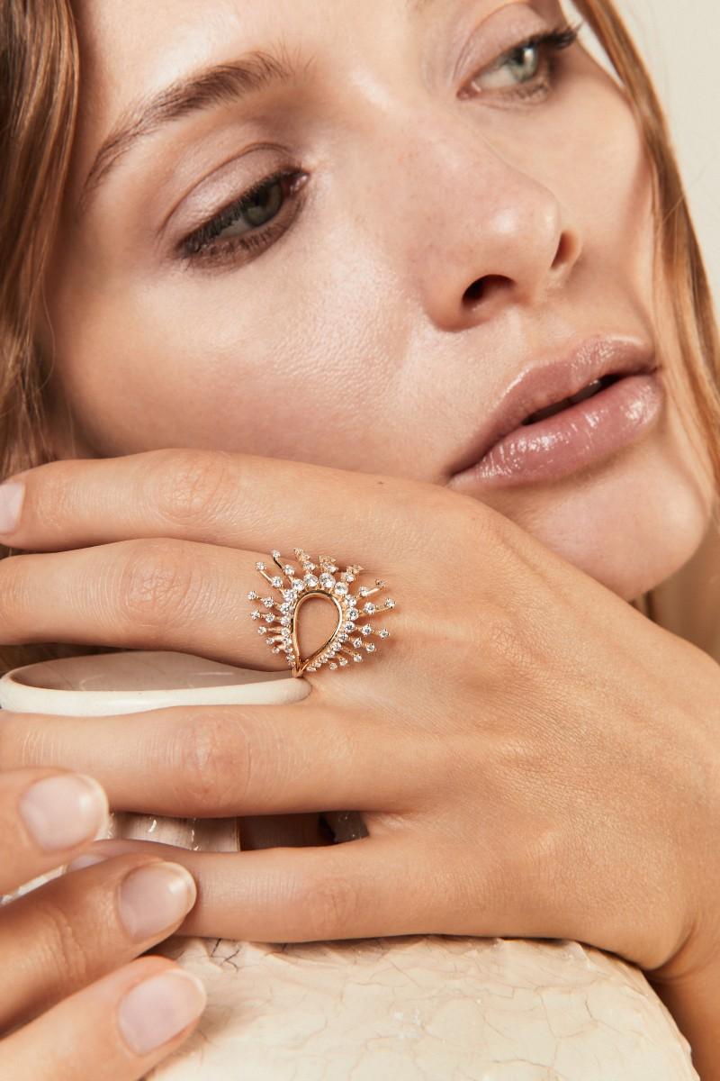 Ring 'Clarity Ring' mit Diamanten 18k Gelbgold