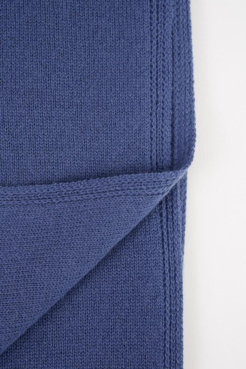 Colombo Klassischer Cashmere Schal Blau