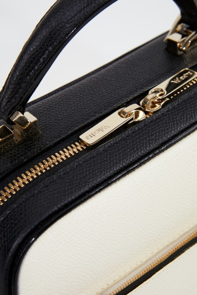 Valextra Bag 'Serie S' Small Cream/Black
