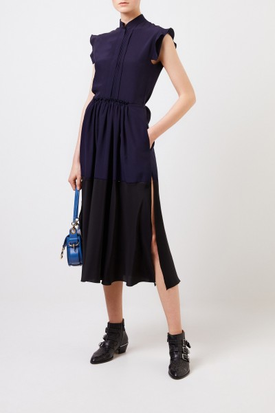 Chloé Long silk dress Navy Blue/Black