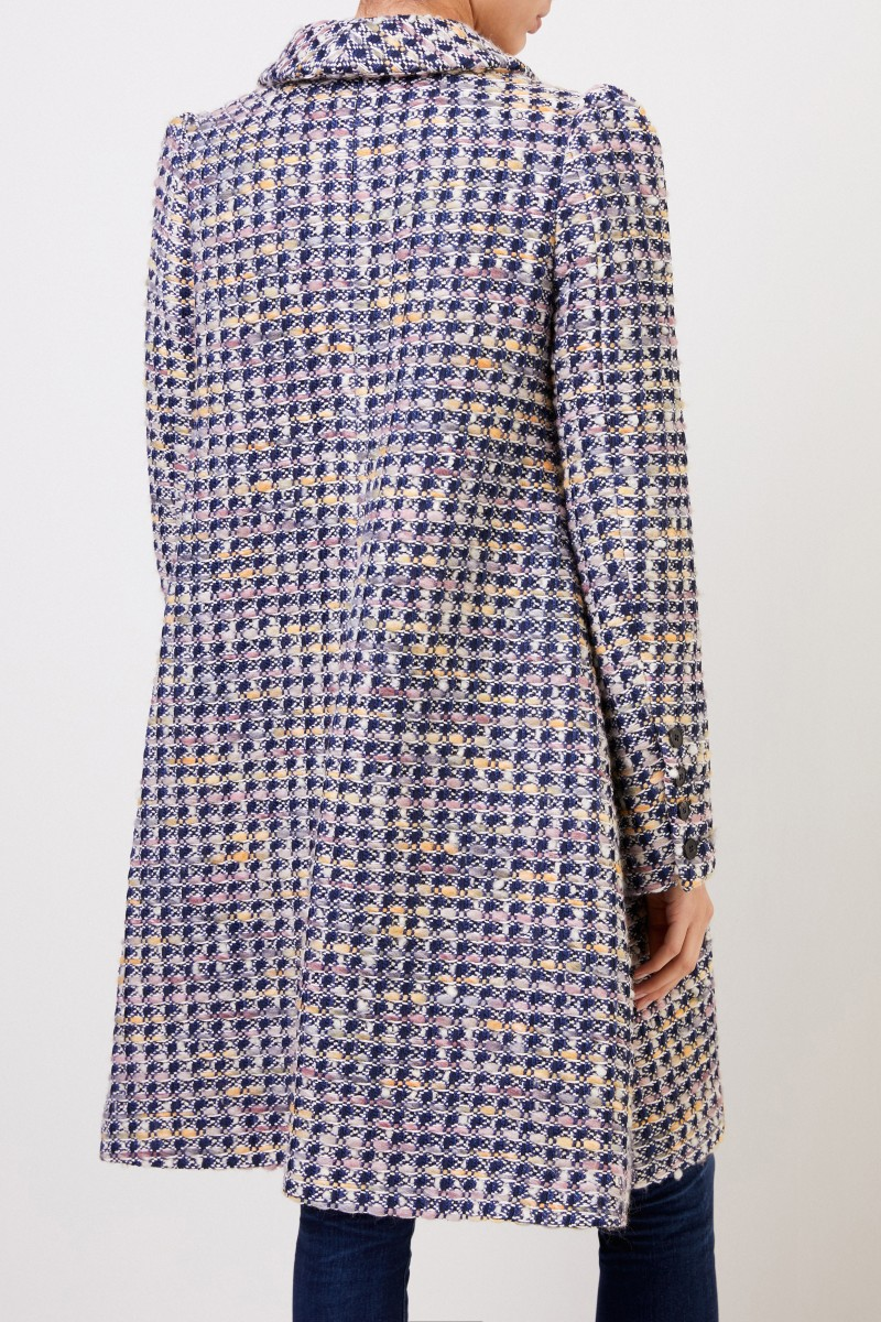 Brock Collection Long coat with wool portion Multi