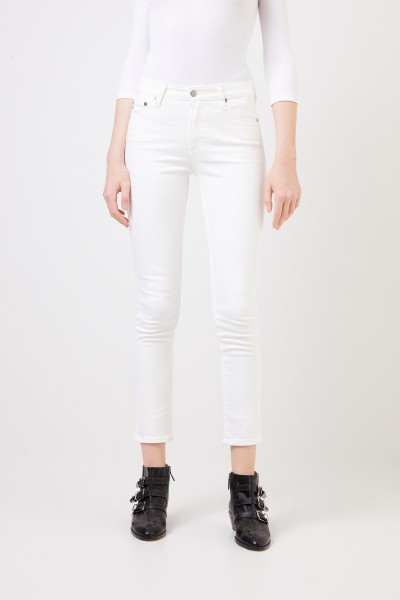 AG Jeans Highrise-Jeans 'The Mari' Weiß