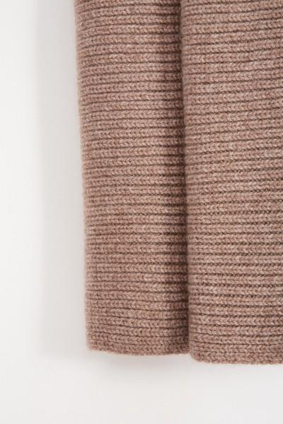 Uzwei Wool cashmere scarf Taupe
