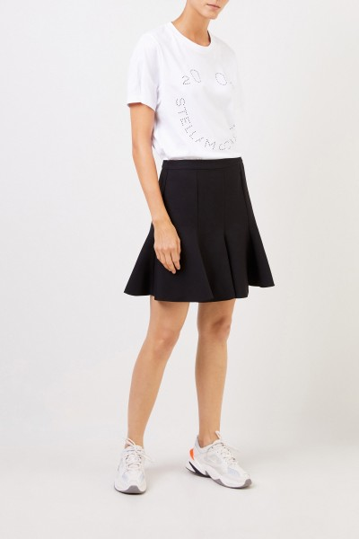 Stella McCartney Wool skirt with flared hem Black