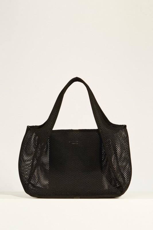 Tasche aus Mesh 'Tote Logo' Schwarz