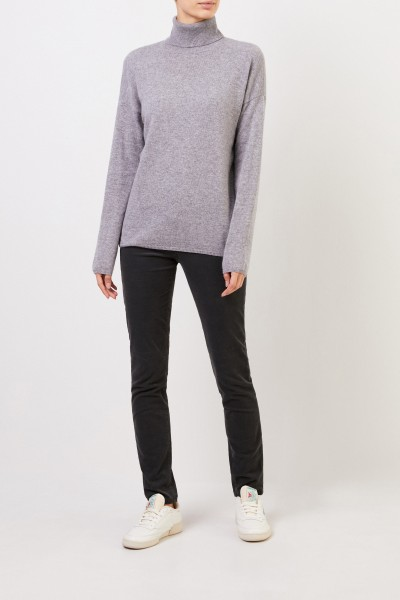 Cashmere-Sweater 'Cinja' with turtleneck Grey