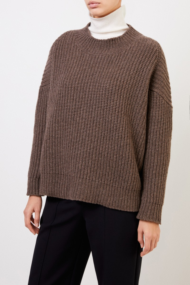 Agnona Cashmere Pullover Braunmeliert