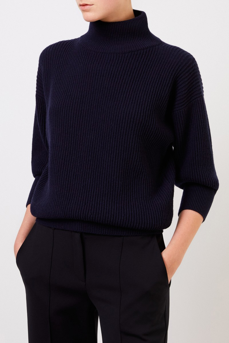 Agnona Cashmere-Pullover Marineblau