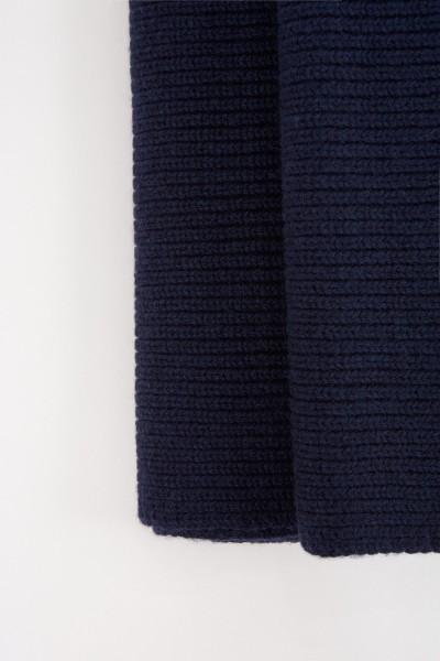 UZWEI Woll-Cashmere-Schal Marineblau
