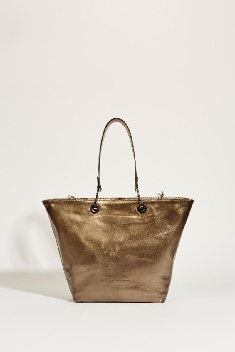 Wendbarer Shopper Beige/Bronze