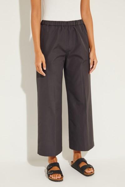 Baumwoll-Hose mit elastischem Bund Grau