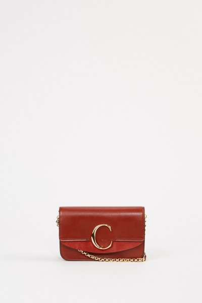 Chloé Shoulder bag 'C on chain' Sepia Brown