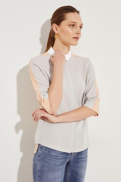 Seiden-Bluse 'Amina' Rosé/Grau
