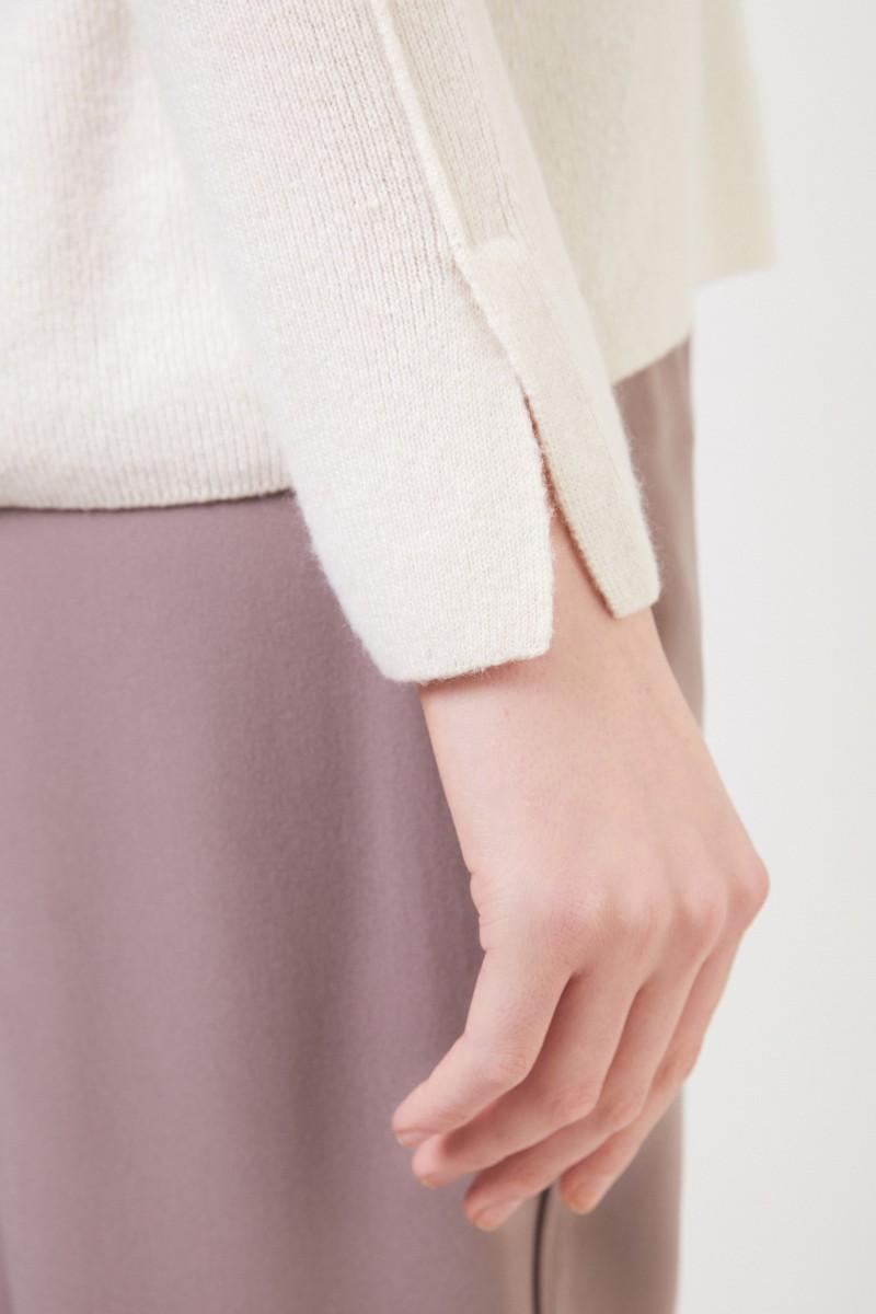 Cashmere-Seiden Pullover 'Tami' Crème