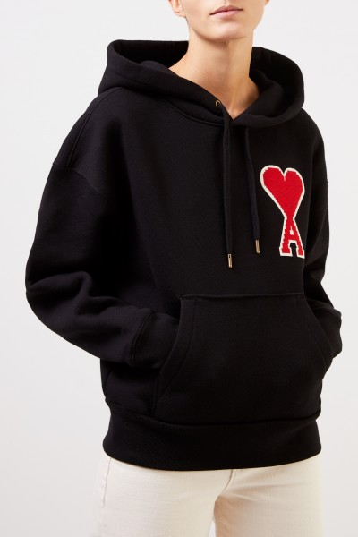 Ami Hoodie with logo Black