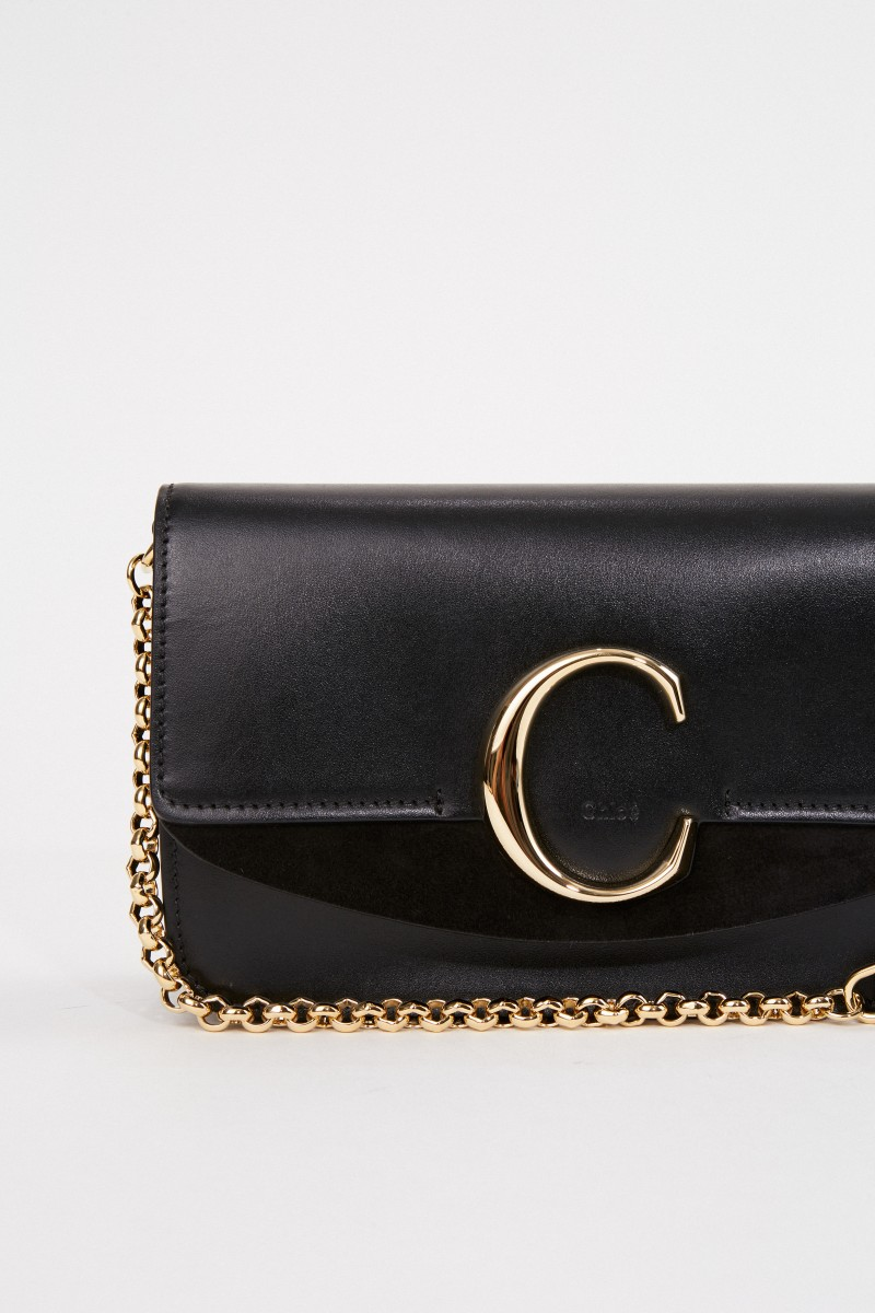 Chloé Shoulder bag 'C on chain' Black