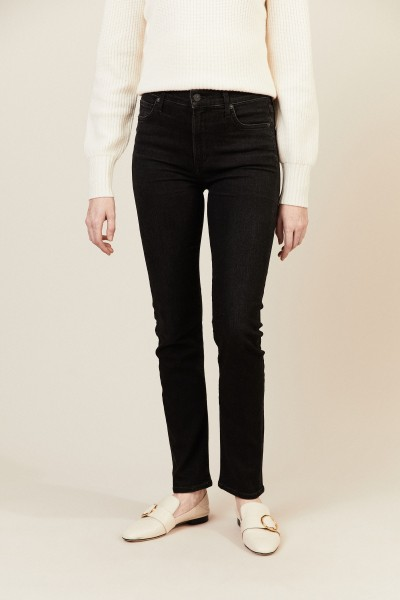 High Rise Slim 'Harlow' Anthrazit