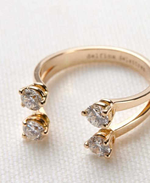 Delfina Delettrez Ring 'Dots' mit Diamanten und Gold